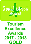 South West Tourism Excellence Awards 2017-2018 Gold